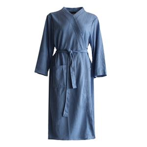 High quality plus size extra long light blue waffle quick dry western hotel man bathrobe