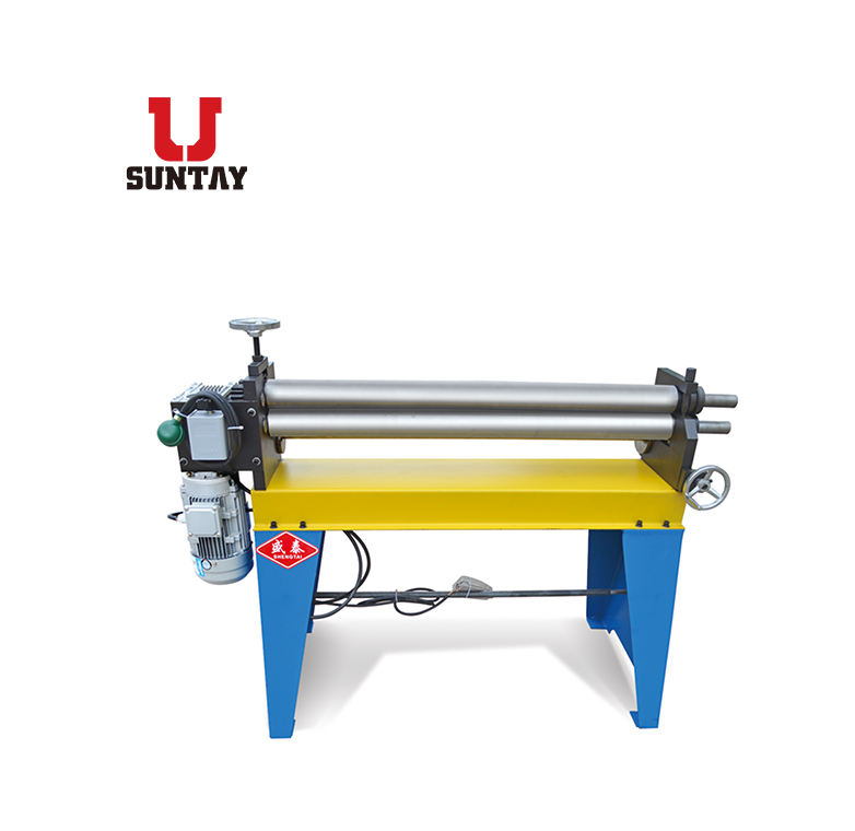Asymmetric 3 Roller Hand Plate Rolling Machine with Handle Operation