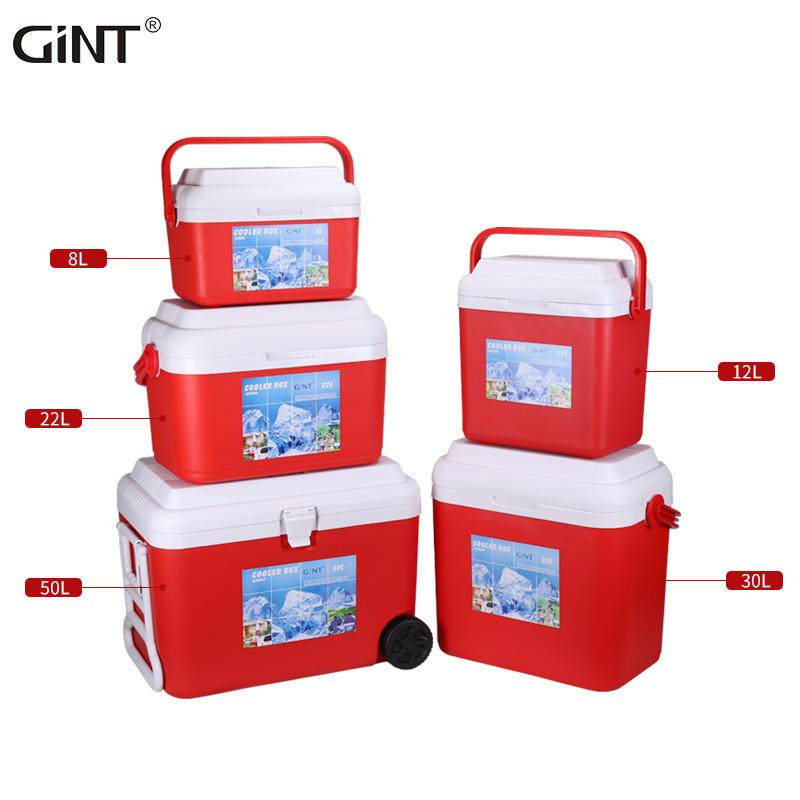 Camping Plastic OEM Ice Chest Cooler Box with Wheels 60L
