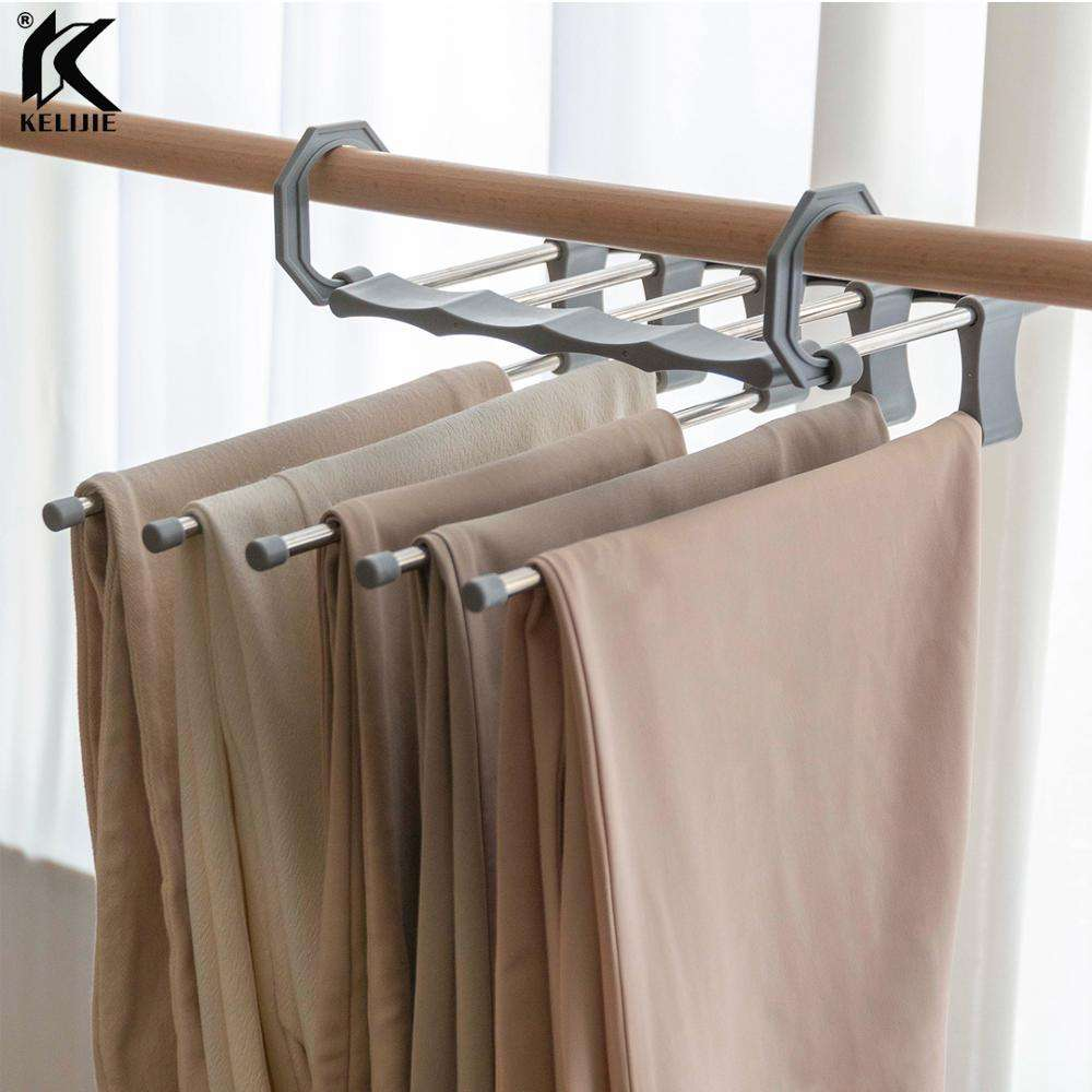 New 2020 trending product White Trouser Clothing Hangers for Clothes Magic Pants Scarf Wonder Cloth Pant Organizer