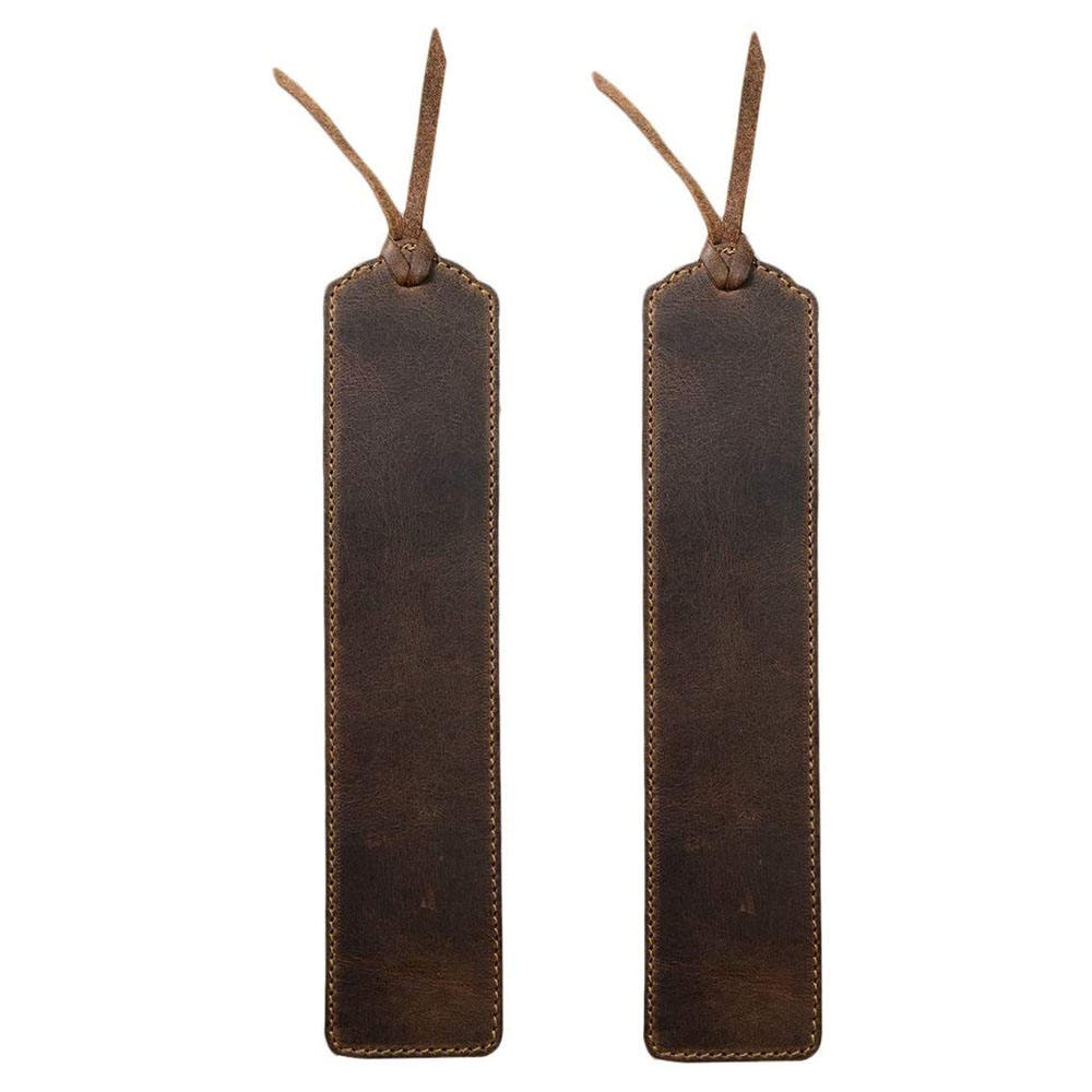 High Quality Deluxe Handmade Long Vintage Full Grain Leather Bookmark