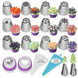 russian pastry nozzles stainless steel icing piping tips of cake cupcake Decorating Kit