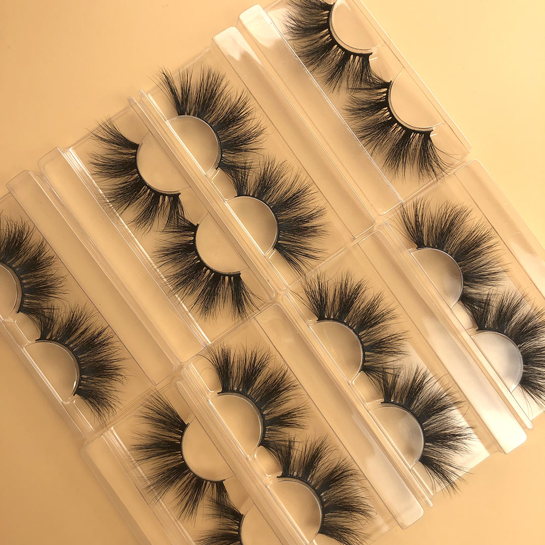 2020 new style high quality 8-18mm 3d mink eyelash vendor in stock full strip lashes