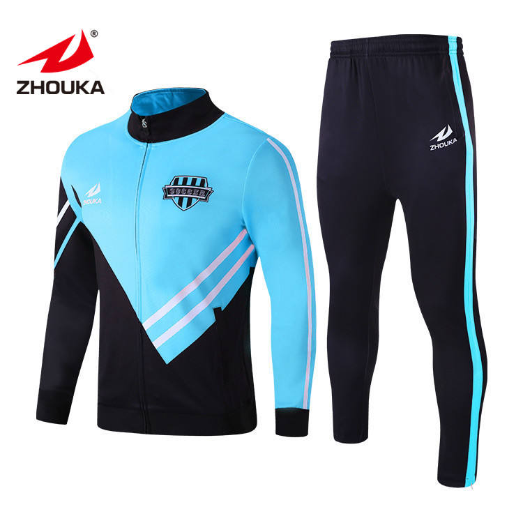 Sky Blue Mens 210/230/260/280g Slim Fit Wholesale Sublimated Sweatsuit Sportswear Jogger Suit Running Wear Tracksuit
