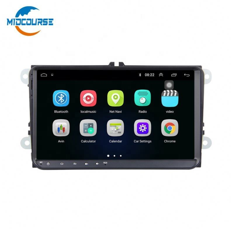MIDCOURSE 9 ''IPS DSP Android 8,1 автомобильный радиоплеер для VW Polo Golf 5 6 <span class=keywords><strong>Skoda</strong></span> Passat B7 CC arok Bora Cross для Touran <span class=keywords><strong>Fabia</strong></span>