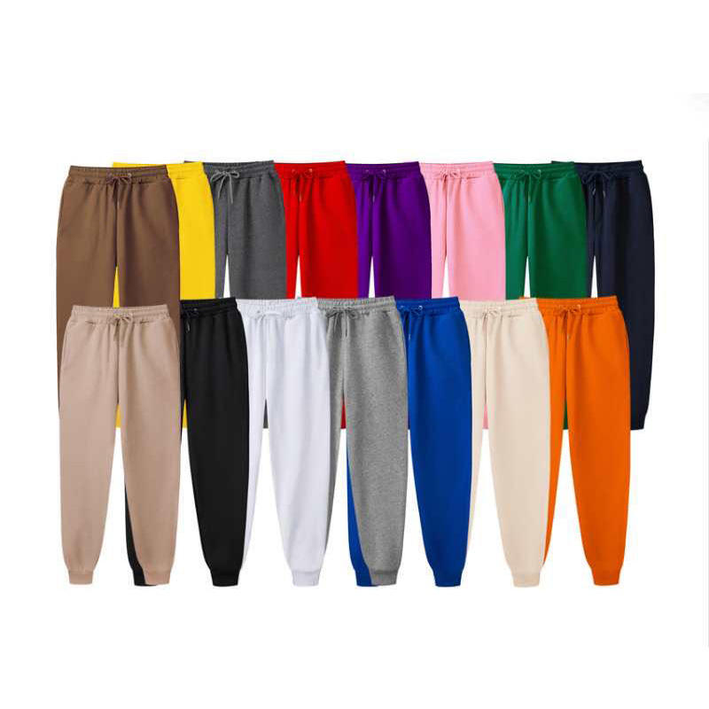 2020 fashion high quality 13 colors custom jogging pants screen printing plain sweat jogger mens or womens pants