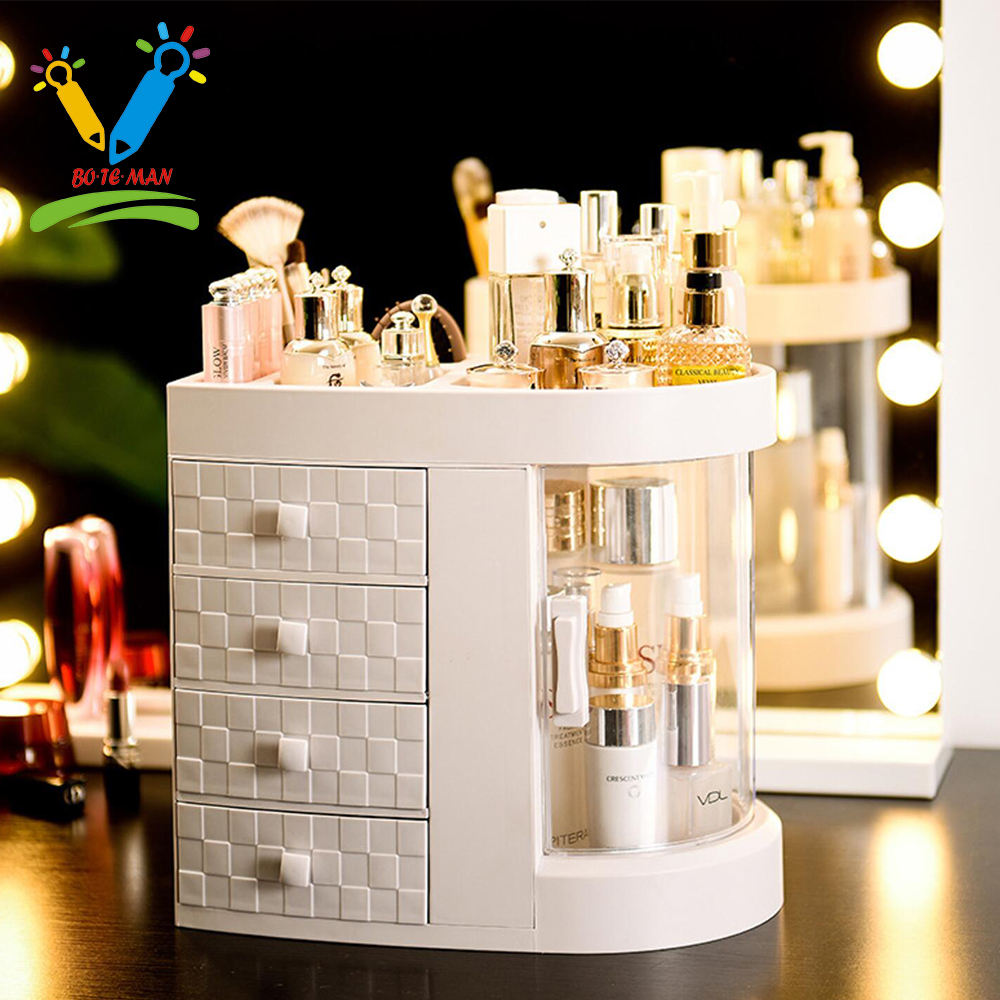 Promotional Hot Selling Acrylic Cosmetic Organizer Plastic Material Makeup Case Organizer Small Sample Order Acceptable