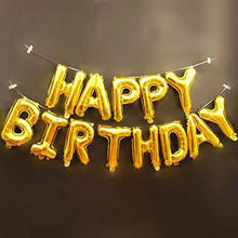 Happy Birthday Foil Balloons,3D Premium Aluminum Foil Banner Balloons Birthday Party Decoration