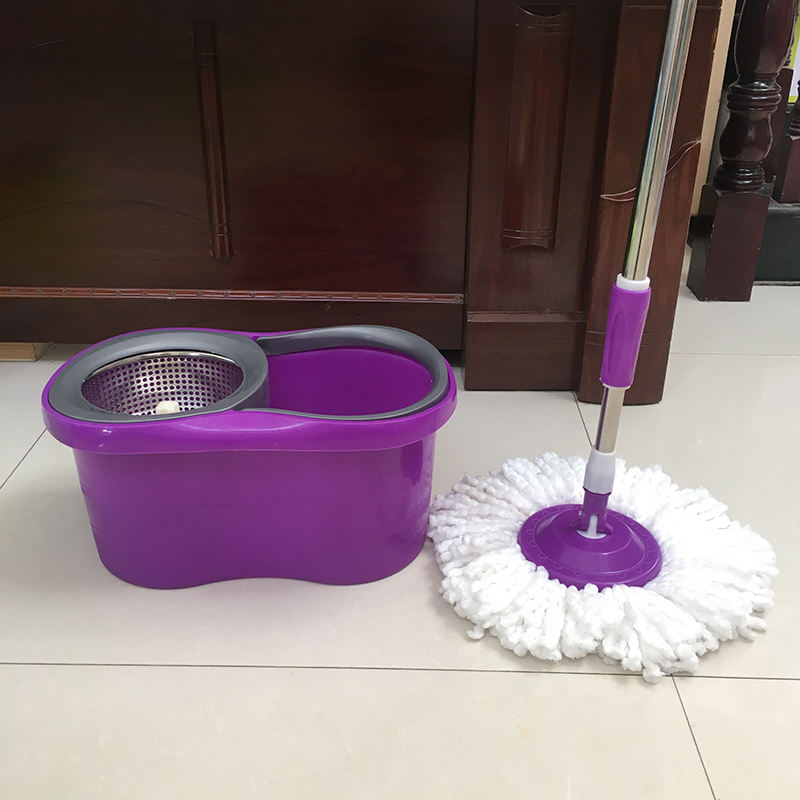 Household Flat 360 Microfiber Rotating Spin Magic Floor Cleaning Mop And Bucket Set
