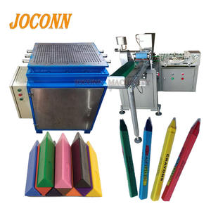Automatic wax crayon wrapping packing machine/commercial oil pastels making labelling machine/Oil painting sticks label machine