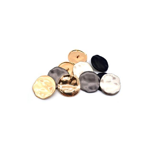 Top Button Gold Men Women Shirt Clothes Round Fashion Decorative Not Flat Metal Buckles DIY Sewing Botones E3-1
