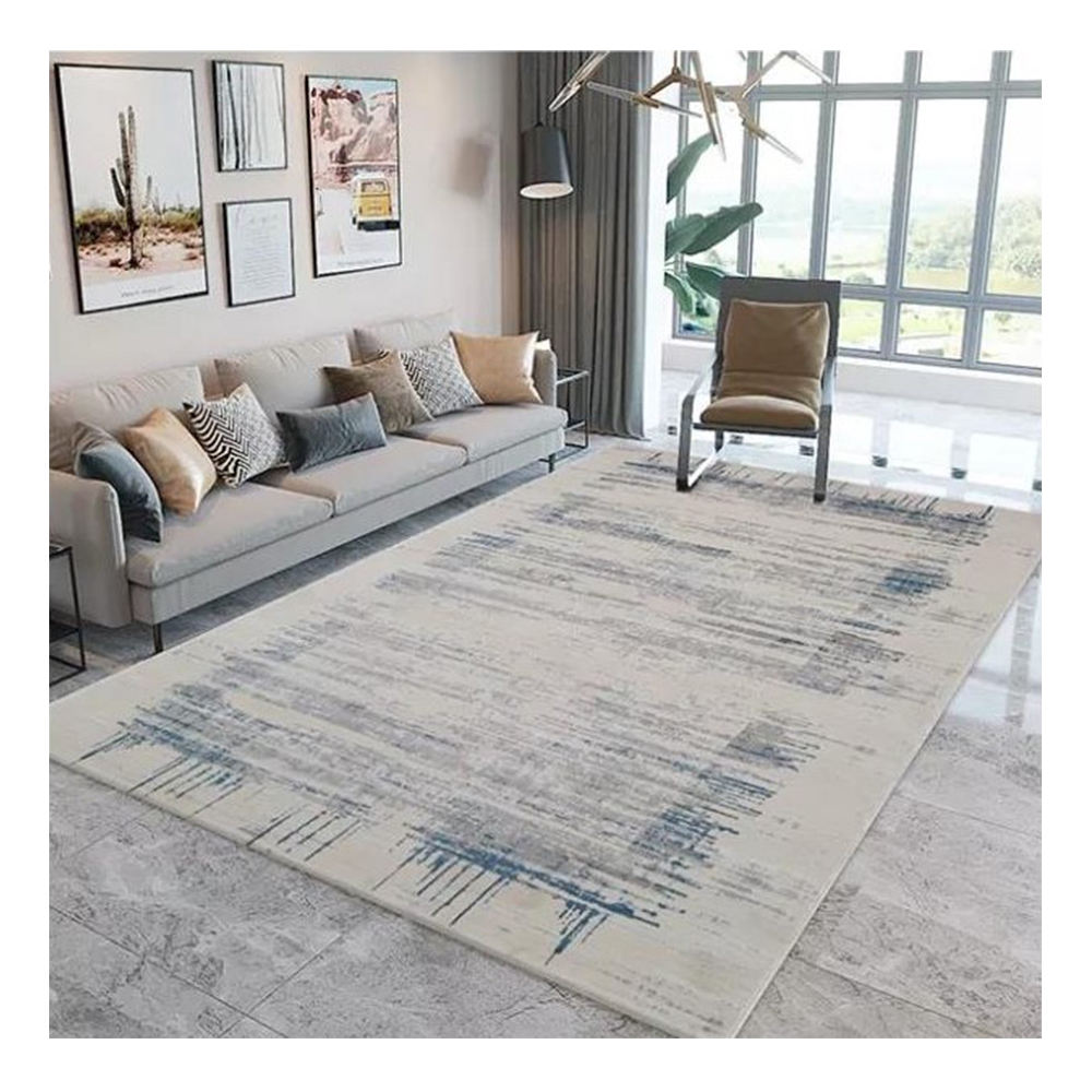 Prix de gros gris simple de machine de conception moderne de luxe nordique tapis salon