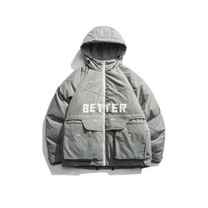 Fashion Winter Jas Pocket Bomber Verwarmde Jas voor Man