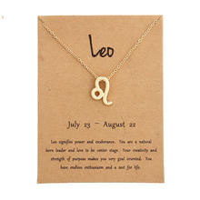 Fashion Jewelry gift 12 Zodiac Sign Constellations Alloy Necklace with Card package