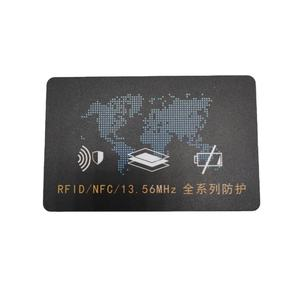 Customized Contactless Blocker RFID 13.56MHZ NFC Blocking Card