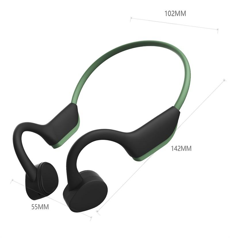 Best buy OEM custom bluetooth 5.0 earphones wireless sports headphones with microphone bone conduction radio headset