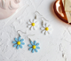 Fashion Vintage Colorful Cute Flower Enamel Stud Earrings for Women Jewelry
