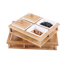 Shengqu Dry Fruit Set Drying 6 Comportment And Snack Plate Nut Tray