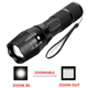 Waterproof Focus Zoom G700 Rechargeable Torch XML 10W T6 aluminum Linterna de Led 5 Modes Flashlight Tactical FlashlightS