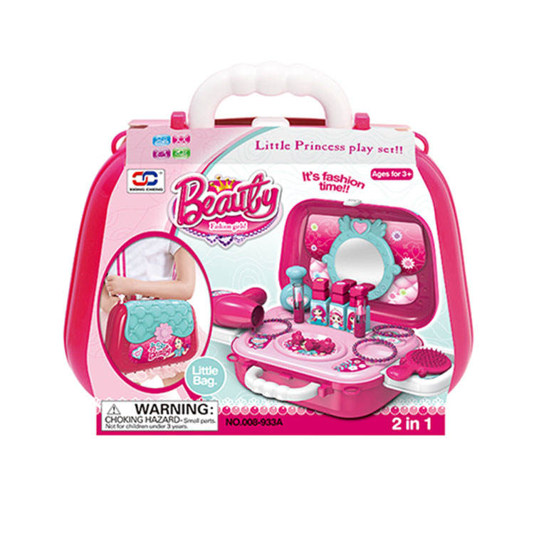 2 in 1 Bag Design Cosmetic Pretend Play Set Make Up Kit Girls Toys