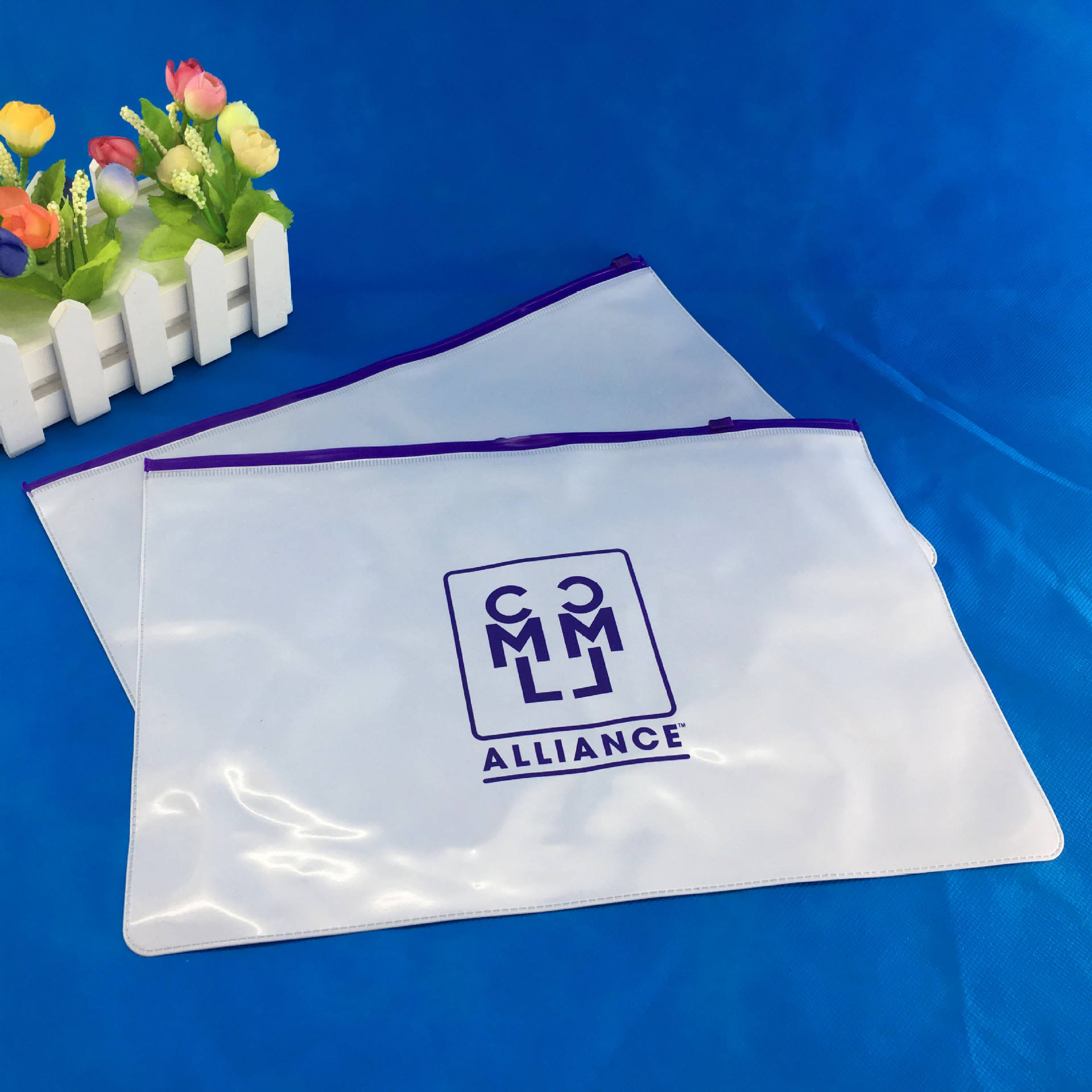 Herbruikbare Waterdicht Slider Bestand Pvc Pouch <span class=keywords><strong>Document</strong></span> Zip Lock Bag
