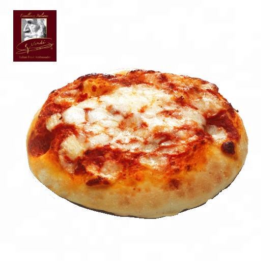100 g Italian Frozen Pizza Margherita Small Round Giuseppe Verdi Selection Made in Italy pizza