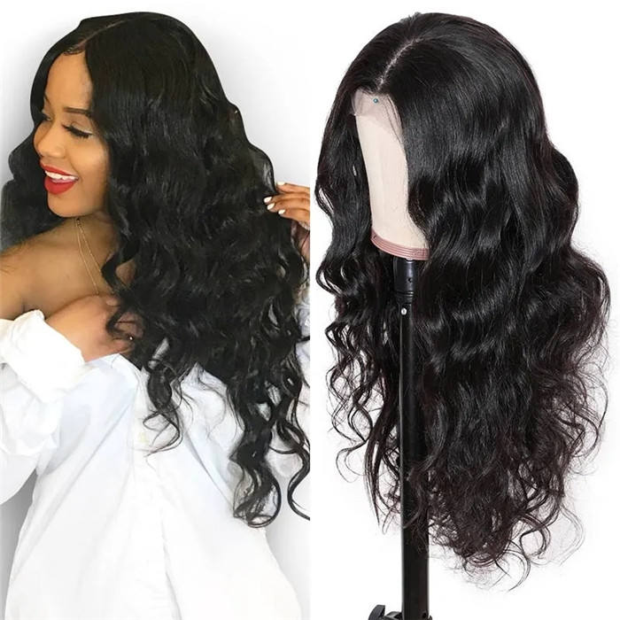 Glueless silk base long full lace wig Wholesale virgin 100% Unprocessed Remy brazilian natural human hair HD full lace wig