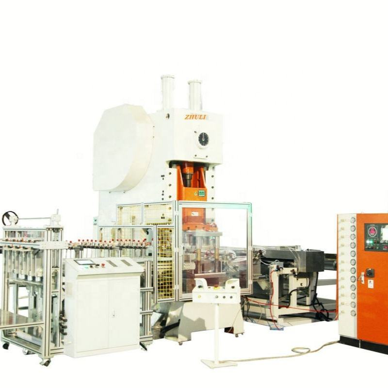 automatic aluminum foil container punching machine