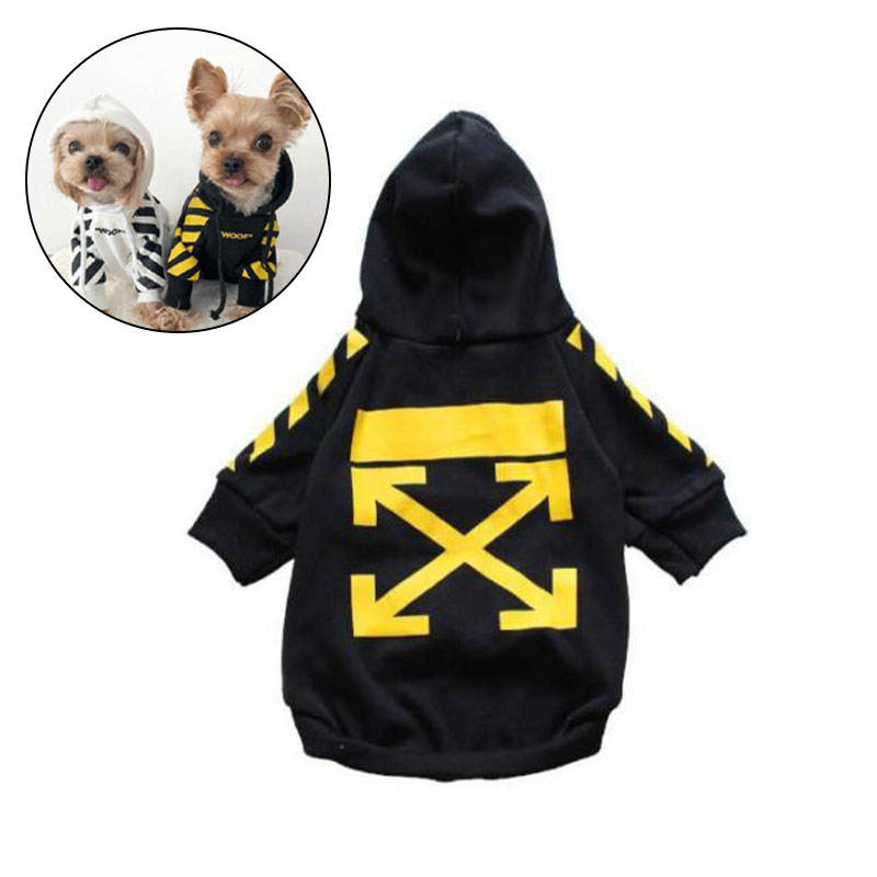 Wholesale Fashion Funny Warm Soft Cotton Pet Clothes Small Dog Sport Sweaters Custom Pet Dog Hoodies
