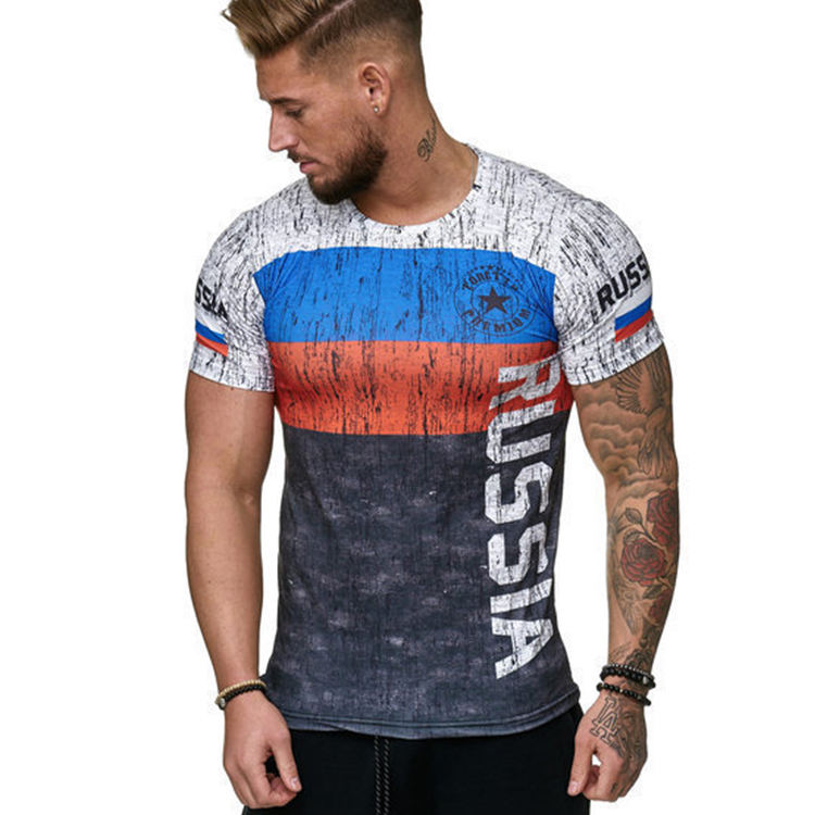 TS06 Fashion 2021 Casual Sport T-shirt Fitness Polyester World Series Slim Fit T-shirt Mannen 3d Print