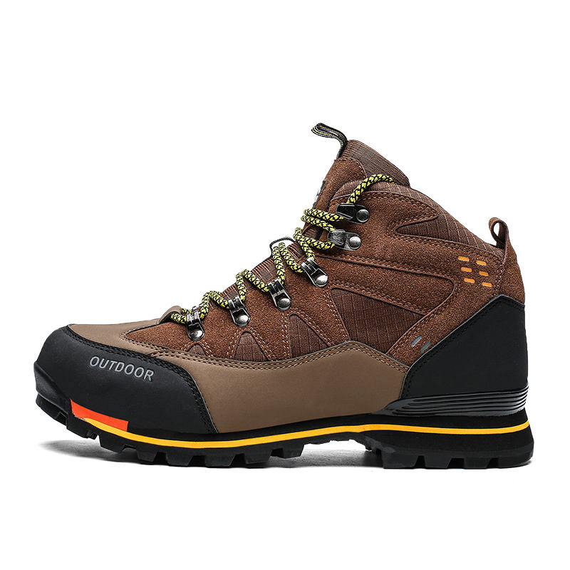 In Stock Suede PU Leather Anti Slip Wearable Outdoor Safety Work Boot Hiking Shoes For Men