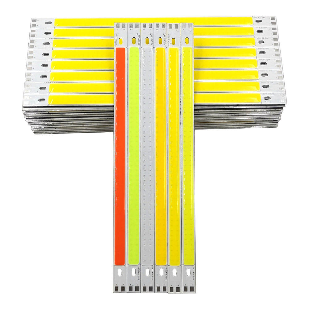 200x10mm 10W 12V LED Bar Light COB Strip Lamp for Desklamp Work Lights Car Lighting Red Blue Green Yellow White Color LED Bulb