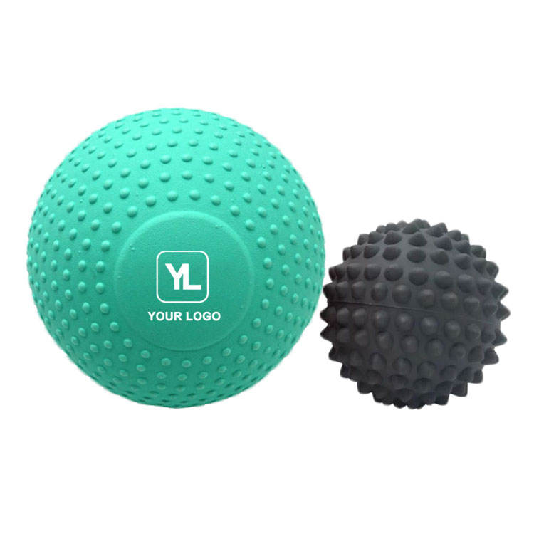 Big Massage Ball 2 Pack Spiky Foam Deep Tissue 5 inch EVA Massager Balls
