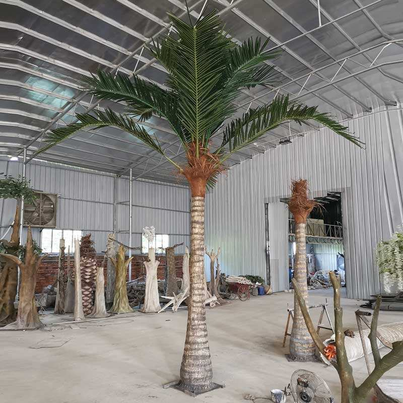 China Supplied Outdoor Plastic Leaves Coconut Trees Giant Artificial Palm Tree