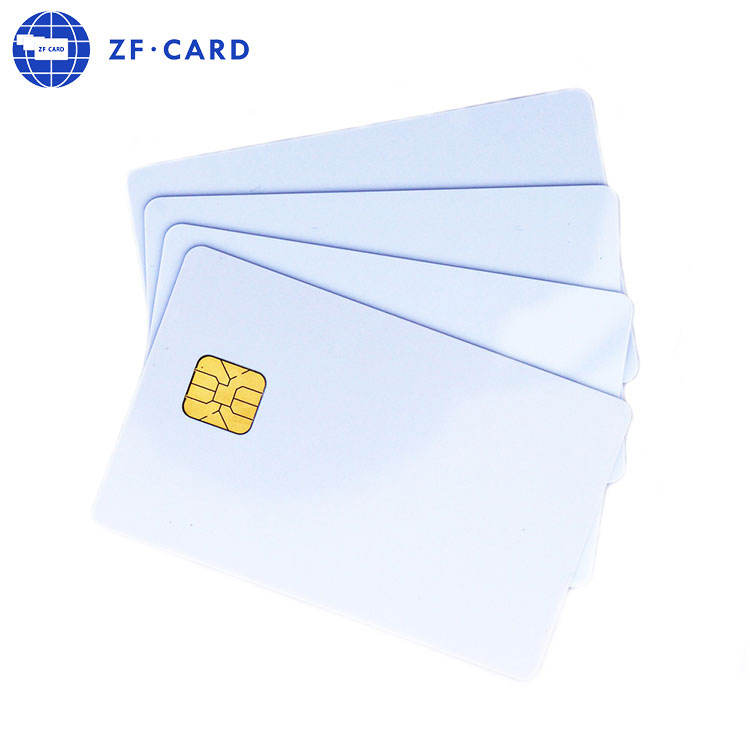 Wholesale PVC Blank Glossy Printable 24C02 Contact IC Smart Chip Card