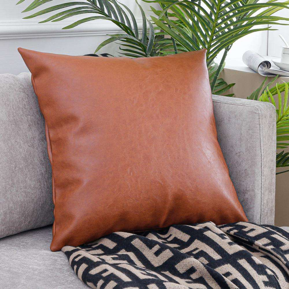 Factory Directly Provide Custom Waterproof Cushion Covers Faux Leather Pillow Cushion Cover