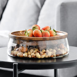 Eco-friendly Safe Glass Lunch Box Container  Crisper with Lid  Food Storage glass jar