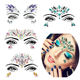 Sets Women Face Gems Glitter,Rhinestone Rave Festival Face Jewels,Bindi Crystals Face Stickers Body Temporary Tattoos Stickers