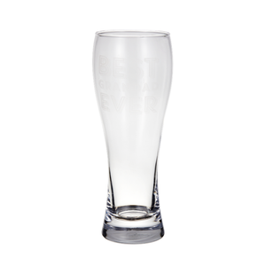 Manufacturer supplied promotional custom logo unbreakable sublimation printing engraved clear glass beer cup mug