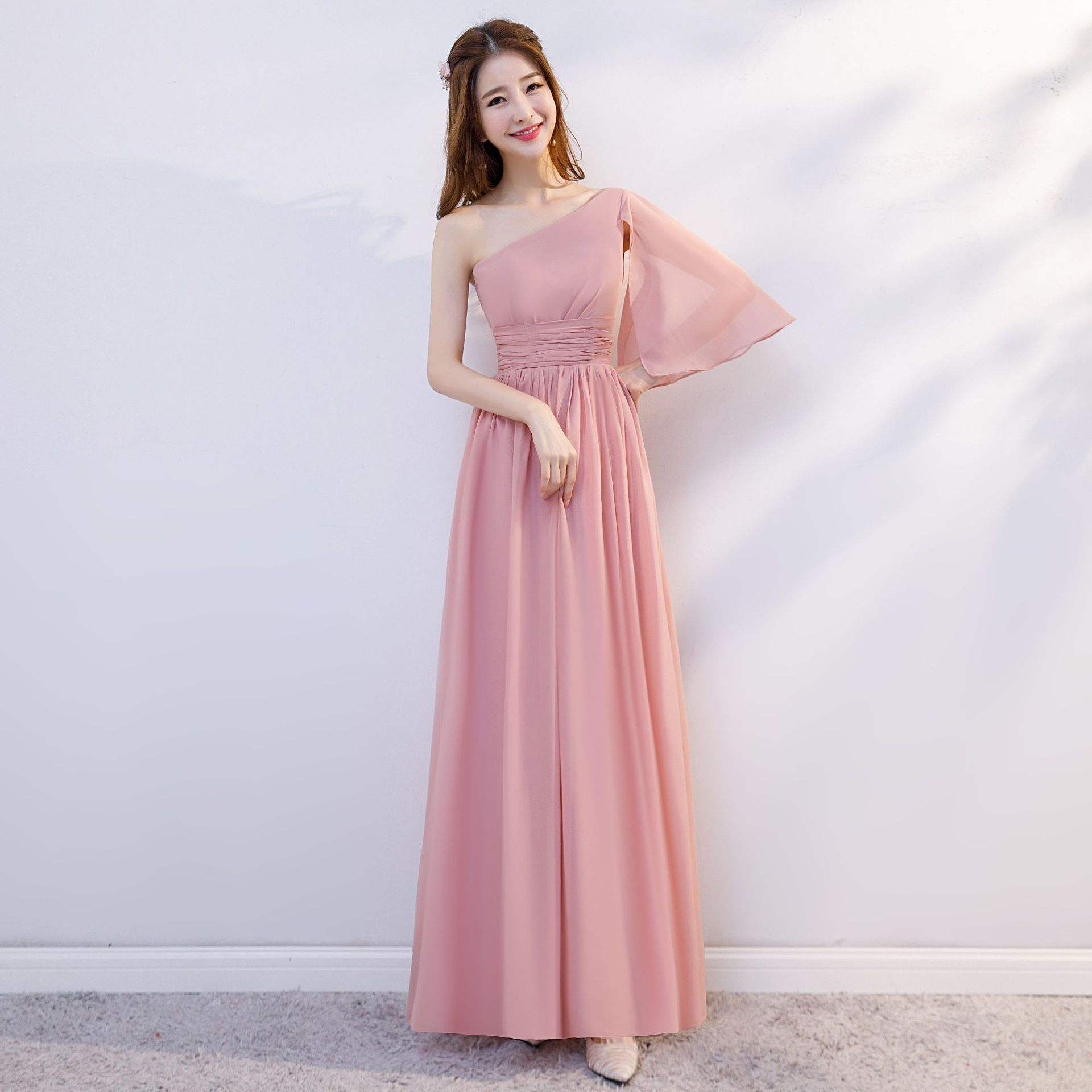 Bridesmaid Dresses Wholesale Dinner Dresses Long Ball Gown Wedding Party Pink Bridesmaid Dresses For Ladies