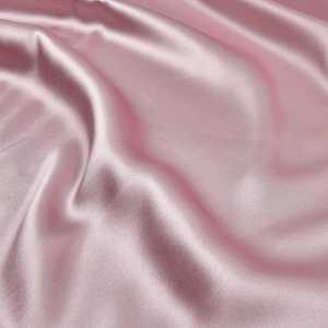 Marfil Satén Sedoso Forro de tejido de poliéster material vestido haciendo Color Liso