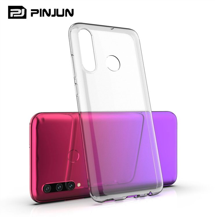 Ultra Thin 0.5mm clear crystal rubber tpu soft case for alcatel 3x 2019 , mobile cover for alcatel 3x 2019