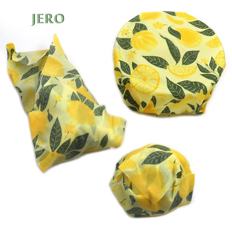 3pcs/pack Non-Toxic & Plastic Free Organic Reusable beeswax wrap set Biodegradable beeswax food wrap set