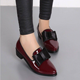 size:35-41 2 color Pu women flat low heel shoes JY-1