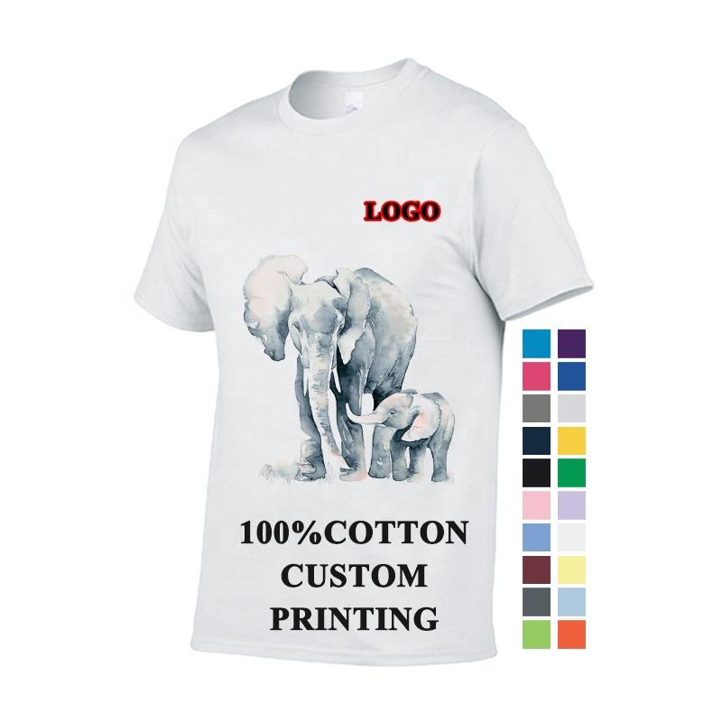 factory direct custom logo printing unisex 100% cotton heavy plain white blank men t shirt