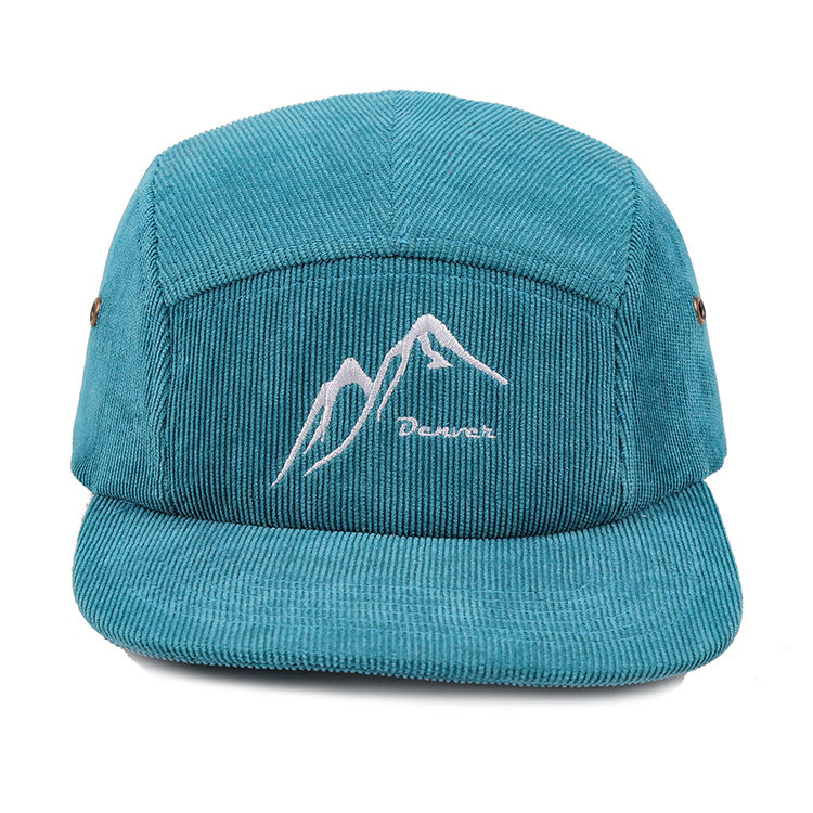 Plain Vintage Corduroy 5 Panel Cap/Hat