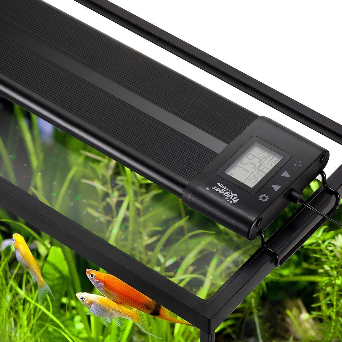 Hygger Auto On Off LED Aquarium Light Extendable 30-36 Inches 7 Colors Full Spectrum Light FixtureためFreshwater BuildでTimer