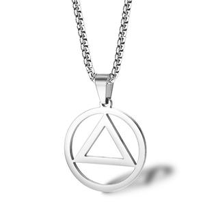 Street Wear Rapper Eminem Necklace Men's Women's Necklace Hip Hop Jewelry Link Chain Geometric Pendant Titanium Steel Necklace