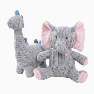 Custom made all kinds of elephant bear rabbit Unicorn soft filled knitting crochet baby toys
