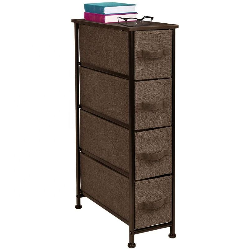 Home And Office Top Furniture Rolling Cart With Wheels Multi - 4 Drawer Storage Chest